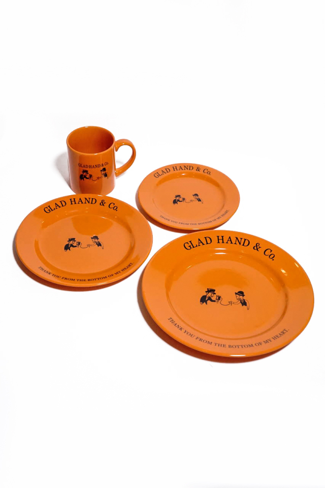 """GLAD HAND TABLE WARE COMPLETE SET """"10th ANNIVERSARY"""""""