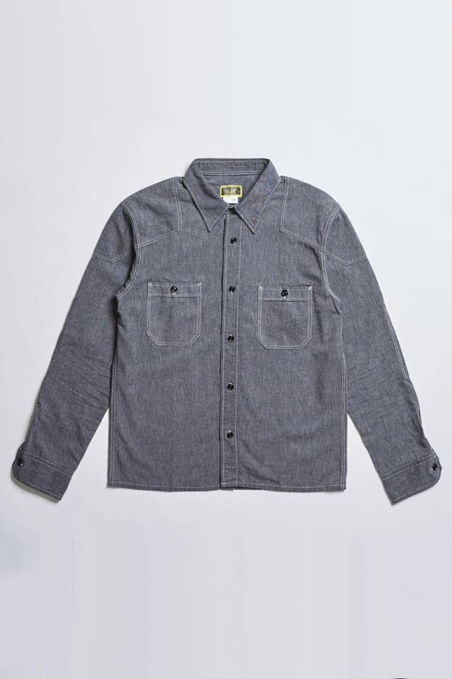 ADDICT CLOTHES JAPAN ACV-SH01 PADDED CHAMBRAY SHIRT BLACK