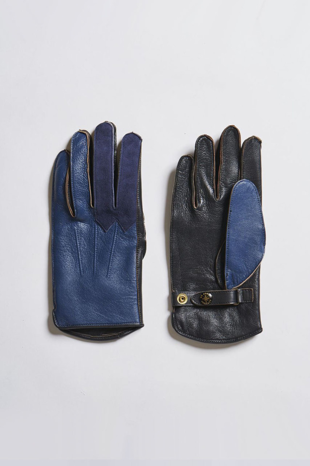 ADDICT CLOTHES JAPAN ACV-G02S SHEEPSKIN RACING GLOVES VINTAGE BLUE