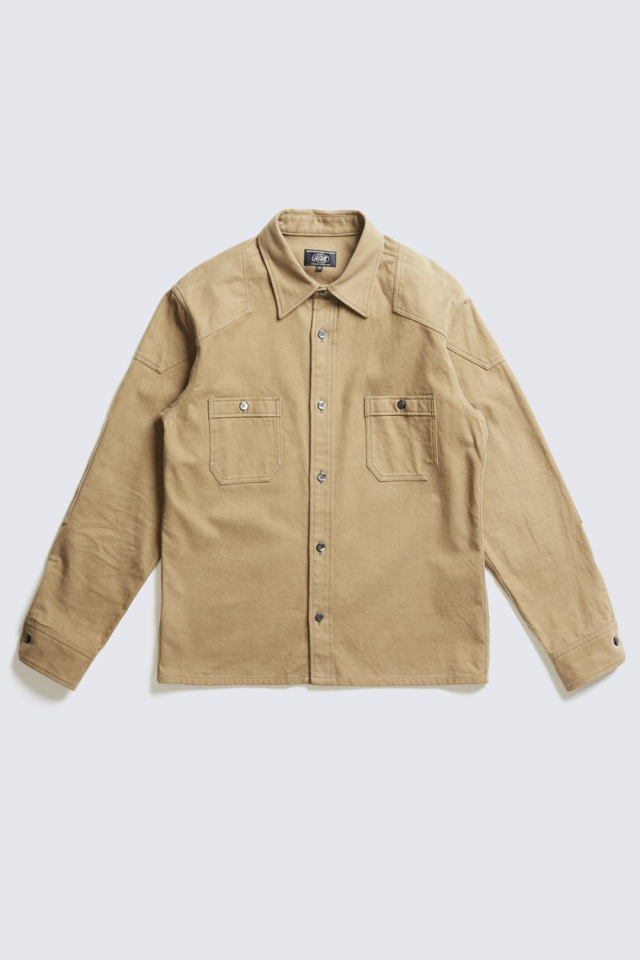 ADDICT CLOTHES JAPAN ACVM ACV-SH01FN PADDED COTTON FLANNEL SHIRT BEIGE