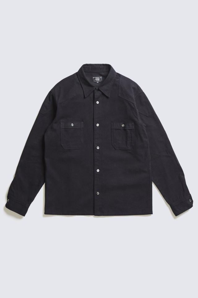ADDICT CLOTHES JAPAN ACVM ACV-SH01FN PADDED COTTON FLANNEL SHIRT BLAC