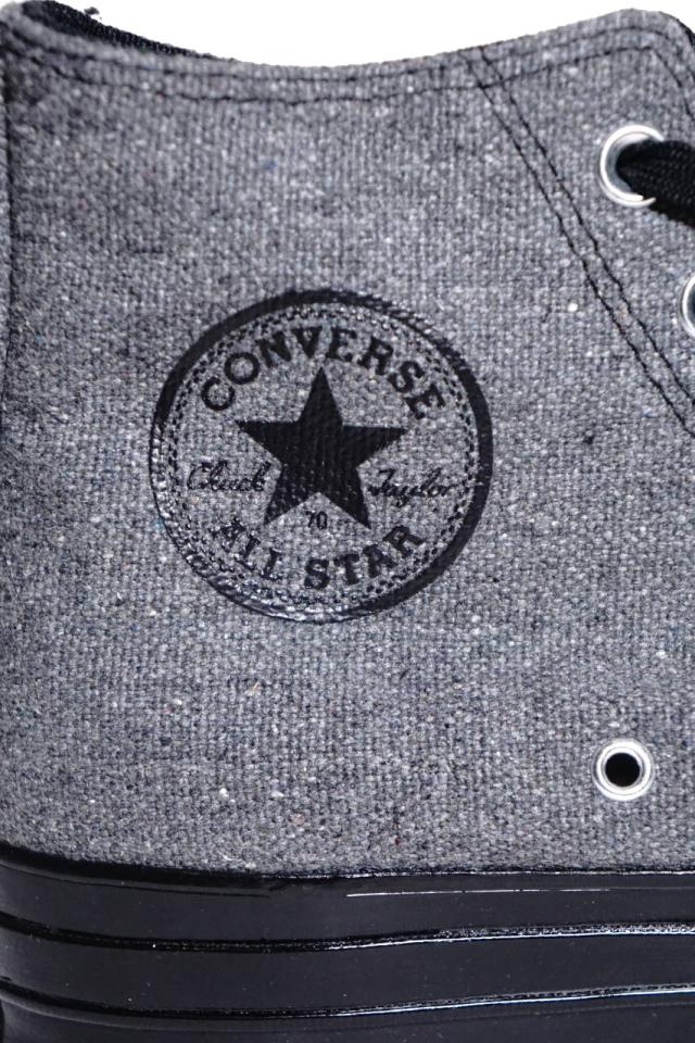 """CONVERSE CT70""Renew Cotton 'Chuck Taylor 70 HI [BLACK/BLACK/BLACK/BLACK]"
