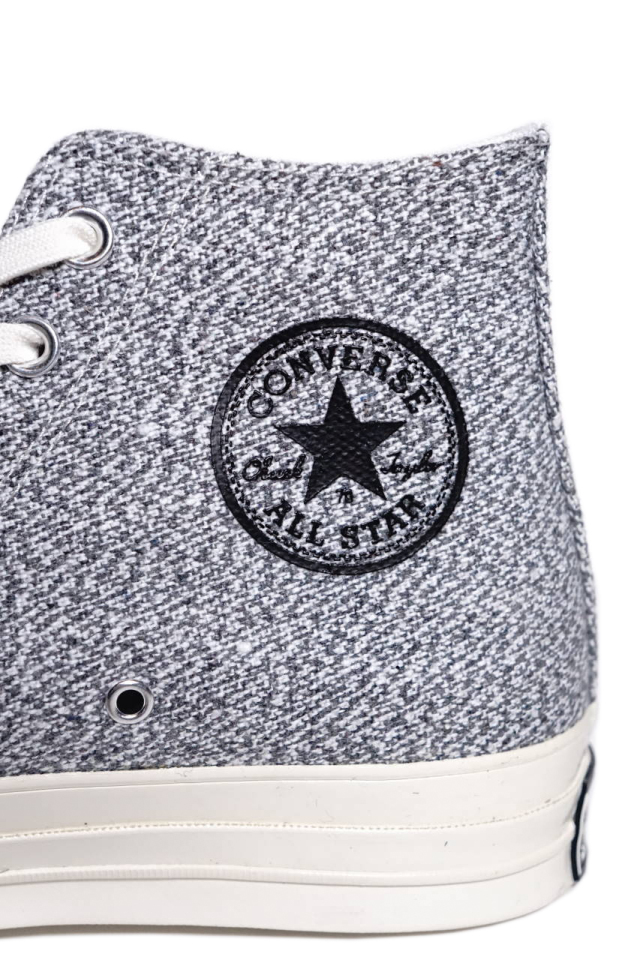 """CONVERSE CT70""Renew Cotton 'Chuck Taylor 70 HI [BLACK/BLACK/WHITE/EGRET]"