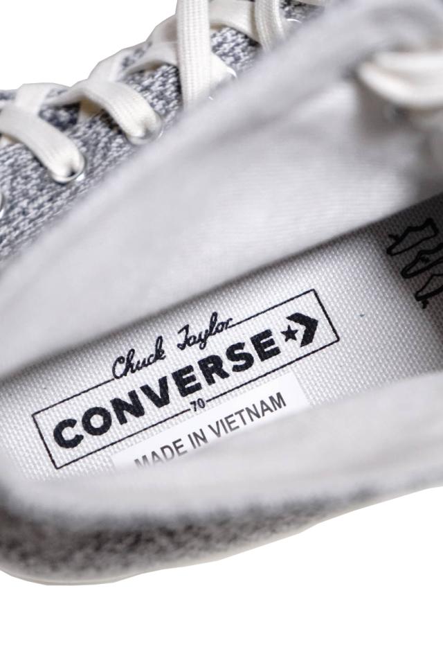 """CONVERSE CT70""Renew Cotton 'Chuck Taylor 70 HI [BLACK/BLACK/WHITE/EGRET]"