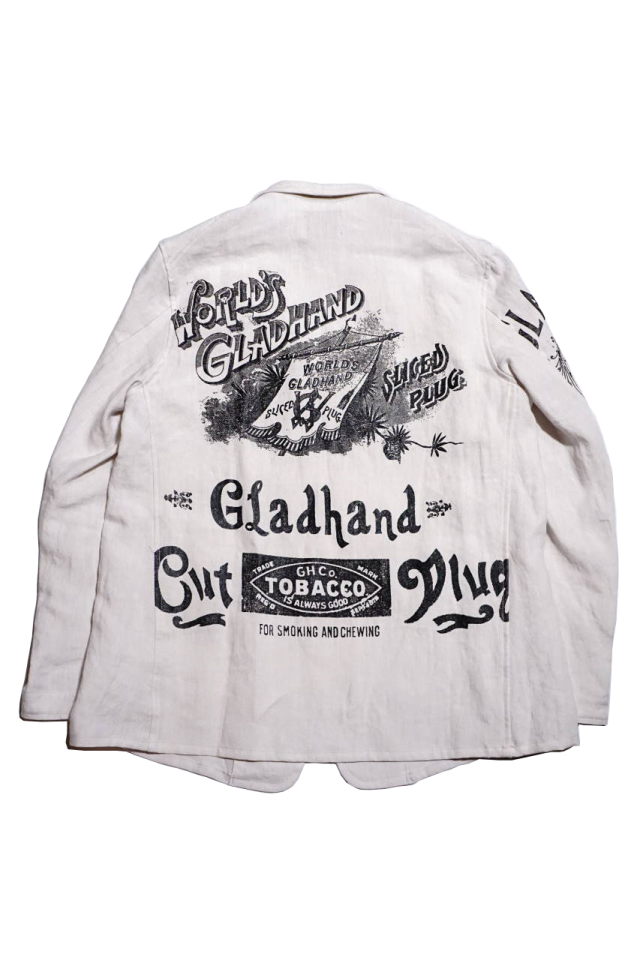 BY GLAD HAND SMOKING - LINEN JACKET IVORY