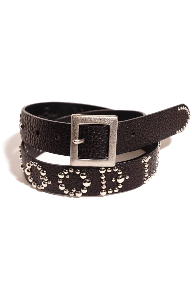 Peanuts & Co. Leather studs belt