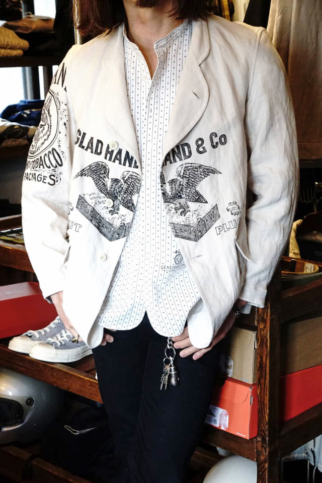 BY GLAD HAND FOR SMOKING - L/S SHIRTS WHITE