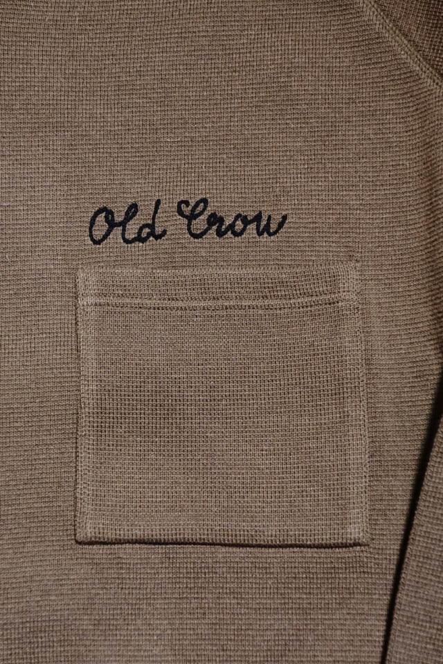 OLD CROW BELLY TANK CLUB - KNIT BLOUSON KHAKI