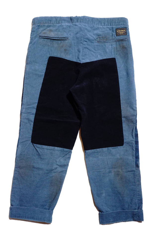 "BY GLAD HAND GLADDEN - CORDUROY PANTS BLUE ""VINTAGE FINISH"""