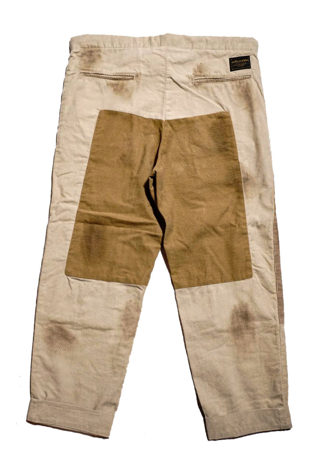 "BY GLAD HAND GLADDEN - CORDUROY PANTS BEIGE ""VINTAGE FINISH"""