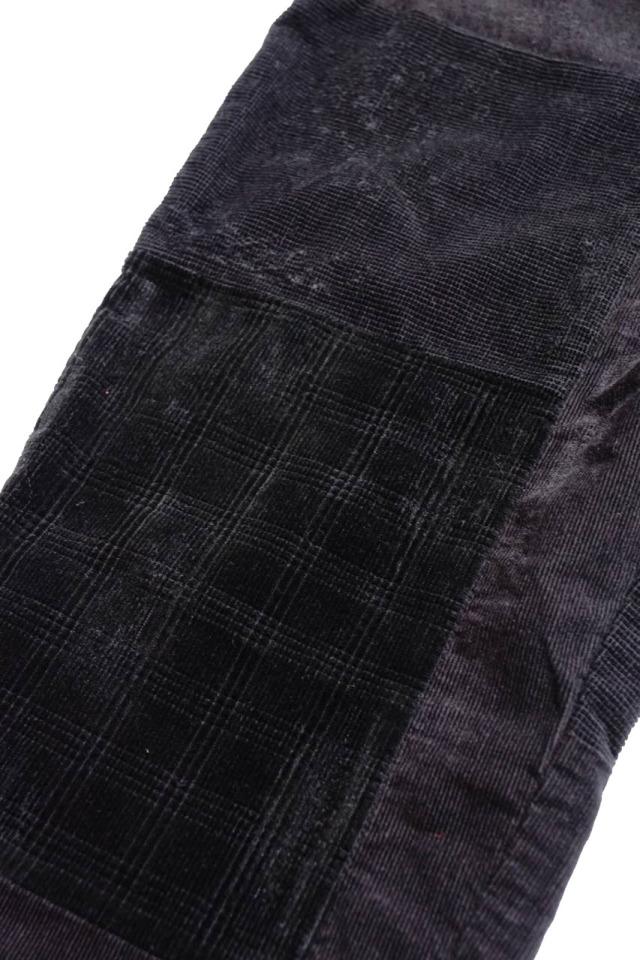 "BY GLAD HAND GLADDEN - CORDUROY PANTS BLACK ""VINTAGE FINISH"""