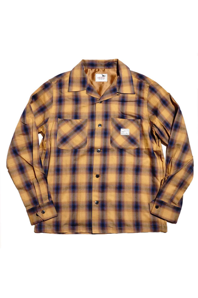 GANGSTERVILLE JACK - L/S CHECK SHIRTS MUSTARD