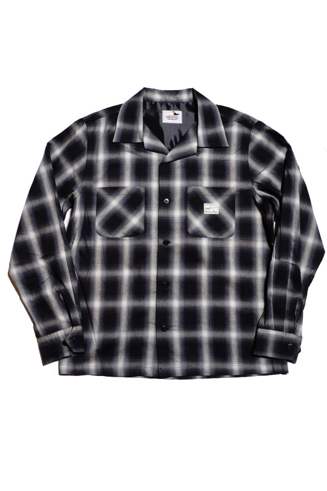 GANGSTERVILLE JACK - L/S CHECK SHIRTS BLACK