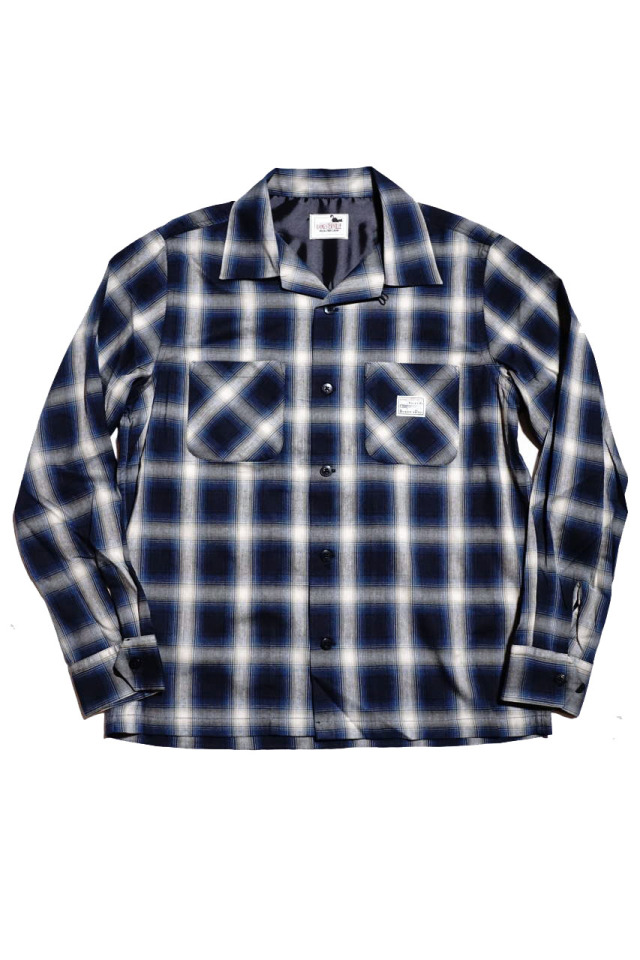 GANGSTERVILLE JACK - L/S CHECK SHIRTS BLUE