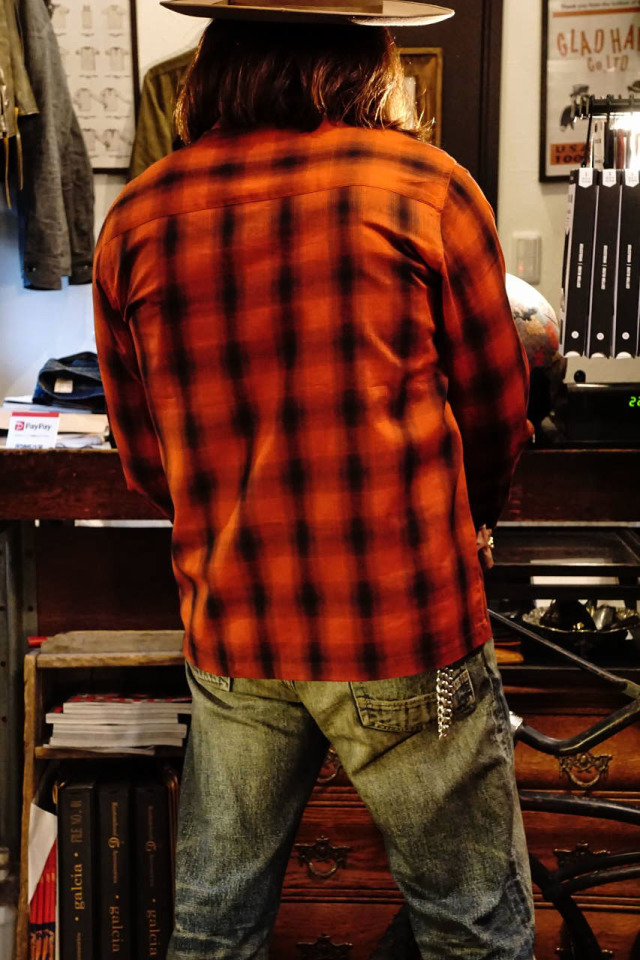 GANGSTERVILLE JACK - L/S CHECK SHIRTS RED