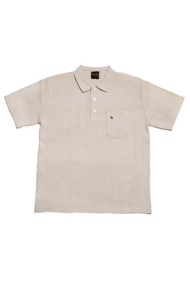 BY GLAD HAND DROP STITCH - S/S POLO SHIRTS BEIGE