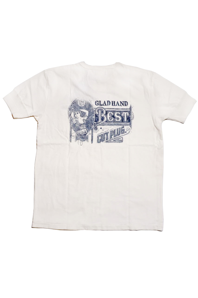 BY GLAD HAND FOR SMOKING LADY - S/S HENRY T-SHIRTS WHITE