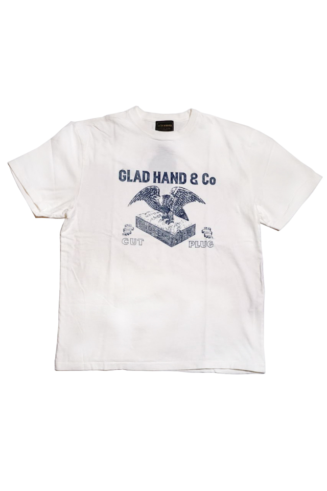 BY GLAD HAND FOR SMOKING UNION - S/S T-SHIRTS WHITE