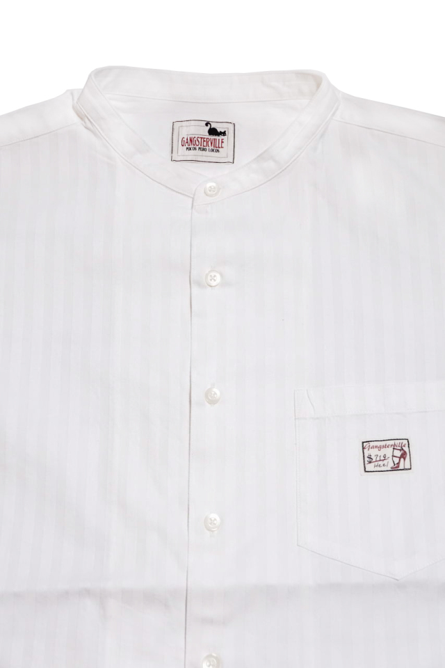 GANGSTERVILLE SOCIAL LOUNGE - S/S SHIRTS WHITE