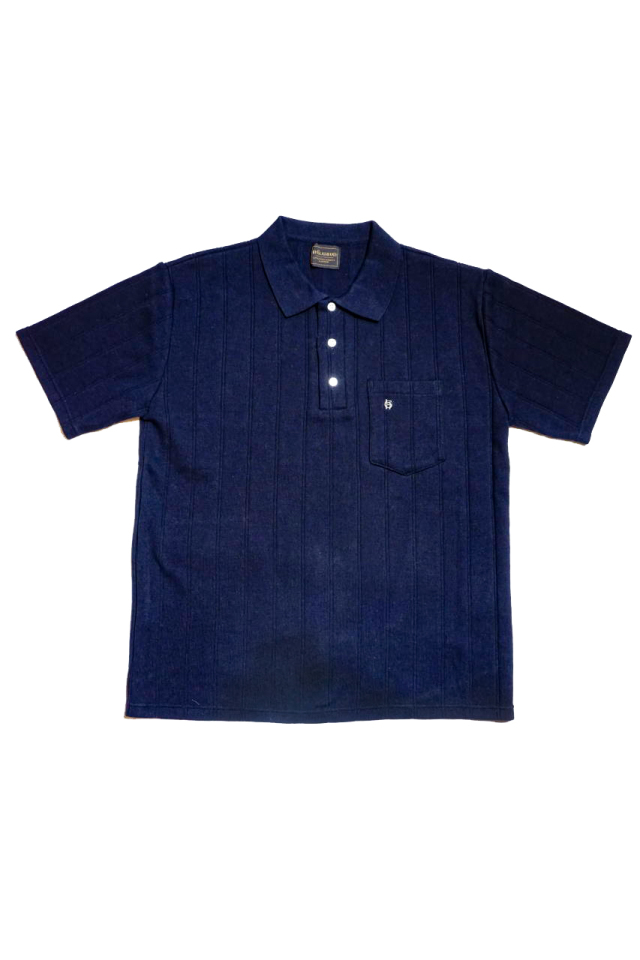 BY GLAD HAND DROP STITCH - S/S POLO SHIRTS NAVY