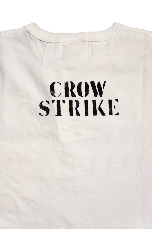 OLD CROW CROW STRIKE - S/S HENRY T-SHIRTS WHITE