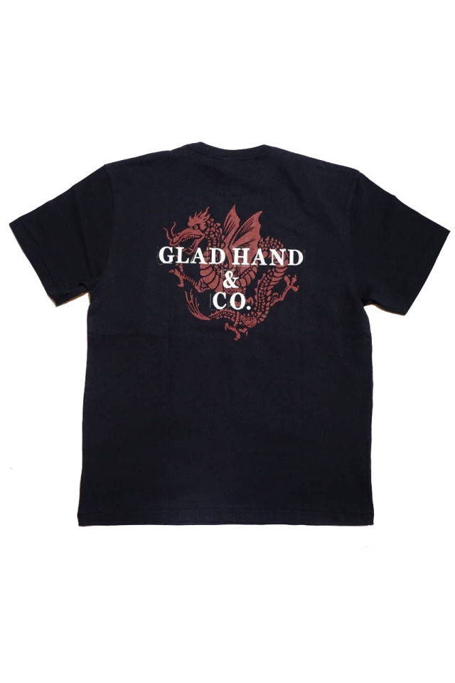 GLAD HAND × FULL COUNT  DRAGON - S/S T-SHIRTS BLACK