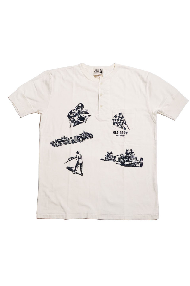 OLD CROW MEMORIES OF RACE - S/S HENRY T-SHIRTS WHITE
