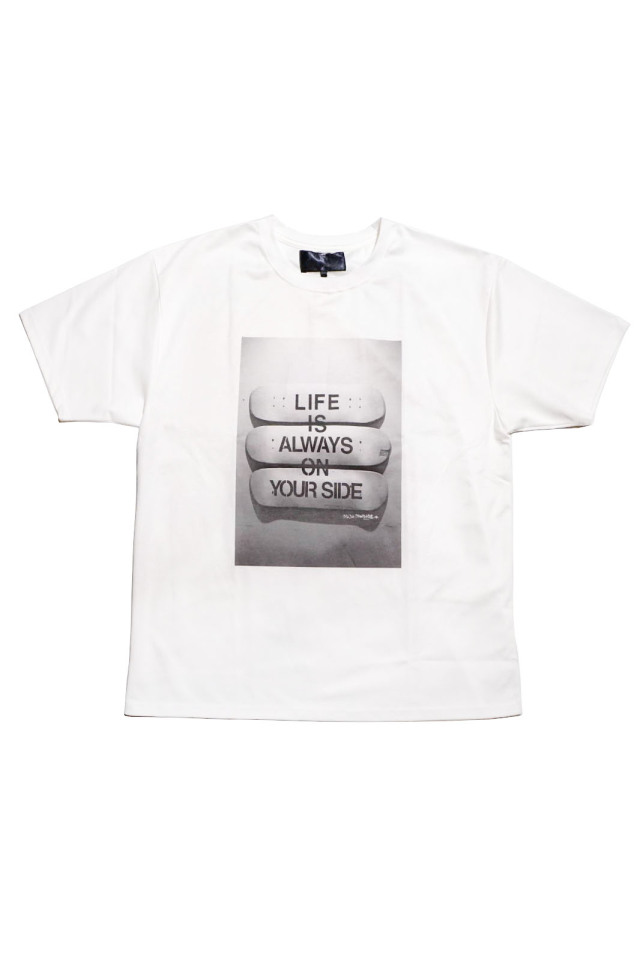 JANIS & Co. x MICHI MADNESS #LIFE IS… TEE WHITE