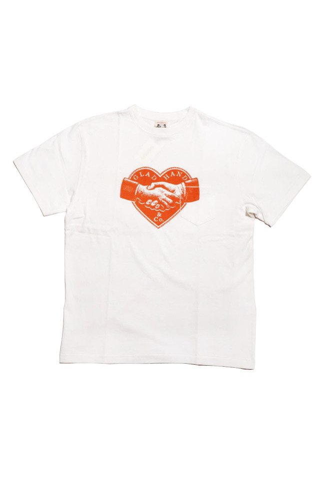 GLAD HAND HEARTLAND - S/S T-SHIRTS WHITE