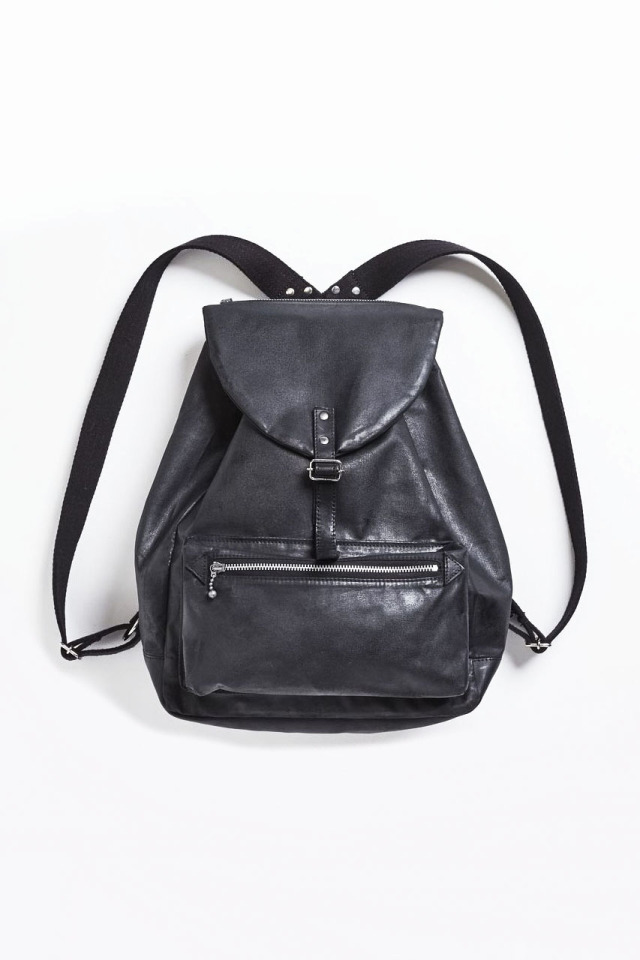 ADDICT CLOTHES JAPAN ACV-BG04 WAXED COTTON BACK PACK BLACK