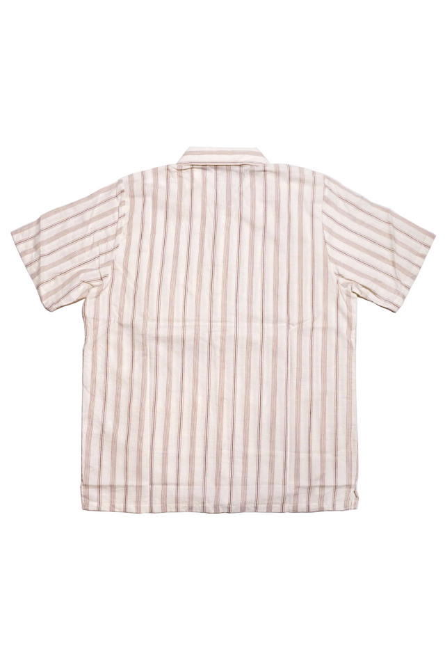 GANGSTERVILLE THUG STRIPE - S/S SHIRTS IVORY