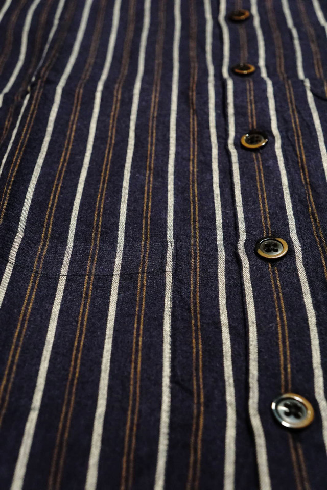 GANGSTERVILLE THUG STRIPE - S/S SHIRTS NAVY