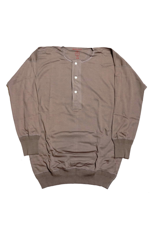 "Olde Homesteader ""Henley Neck Longsleeve"" – Interlock – Rustic Grey"