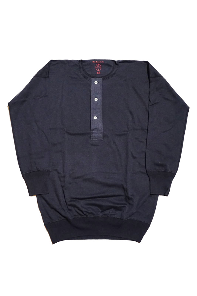 "Olde Homesteader ""Henley Neck Longsleeve"" – Interlock – Worker's Black"