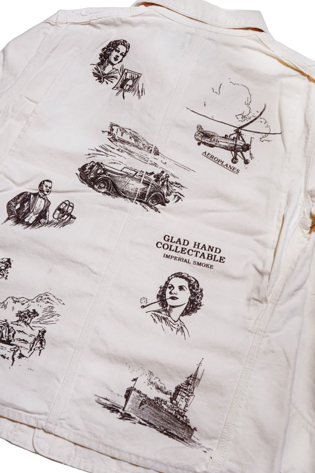 """BY GLAD HAND BROTHER UNION - COVERALL IVORY """"PRINT"""""""