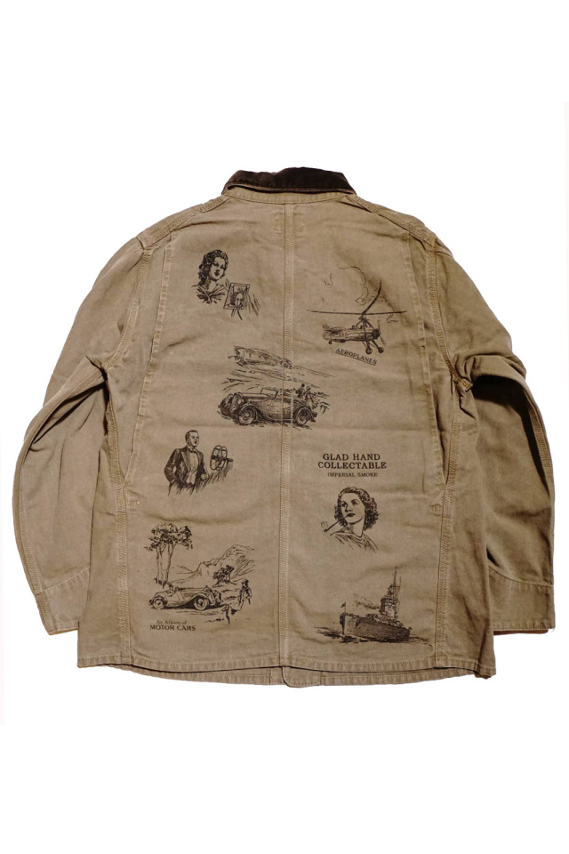 """BY GLAD HAND BROTHER UNION - COVERALL BROWN """"PRINT"""""""