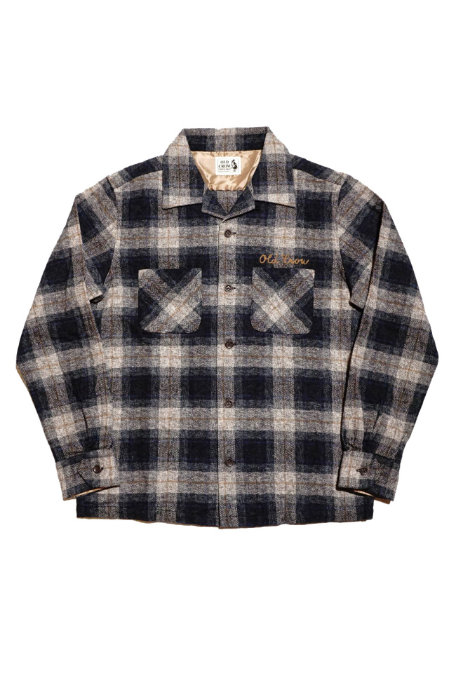 OLD CROW SPEEDWAY - L/S CHECK SHIRTS BLACK