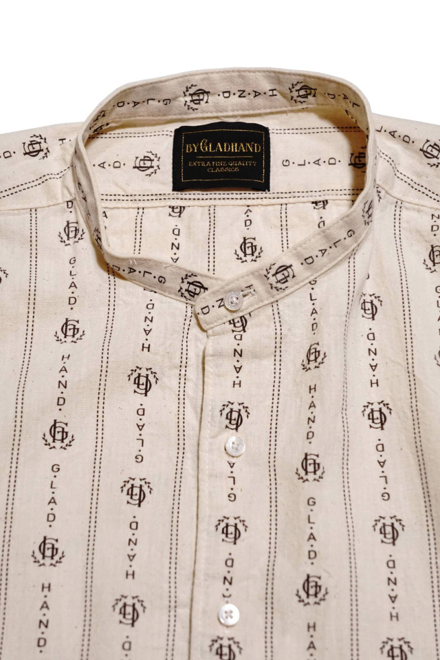 BY GLAD HAND HEARTLAND - L/S BAND COLLAR SHIRTS IVORY