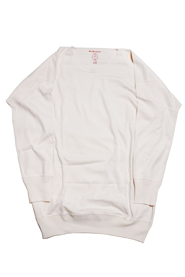 "Olde Homesteader ""Crew Neck Longsleeve"" – Interlock – Ivory"