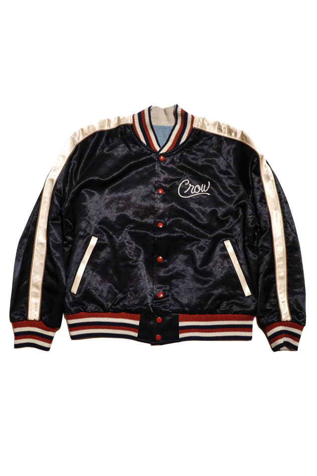 OLD CROW RACING CLUB - REVERSIBLE JACKET BLACK