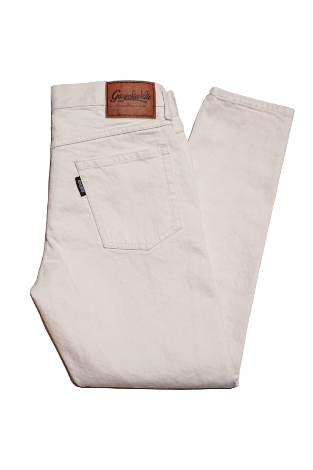 GANGSTERVILLE THUG - SKINNY STRETCH PANTS IVORY