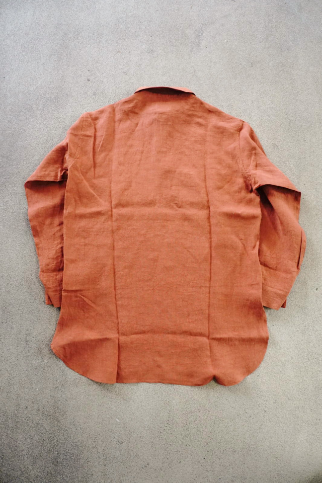 BY GLAD HAND HOTEL ROYAL - L/S PULLOVER LONG SHIRTS ORANGE