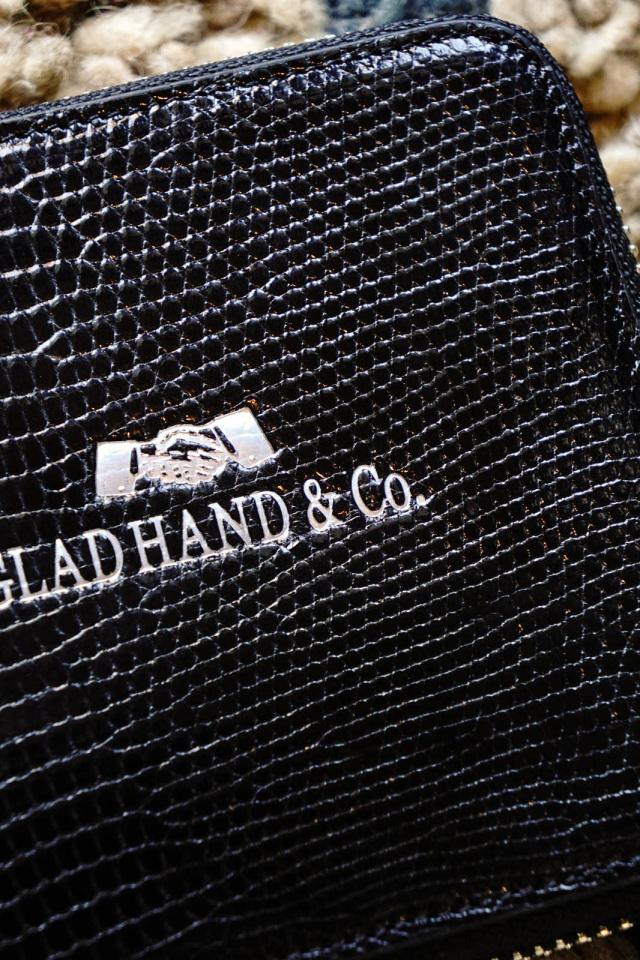 "GLAD HAND & Co. SPEAKEASY ZIP BILLFOLD WALLET ""LIZARD"""