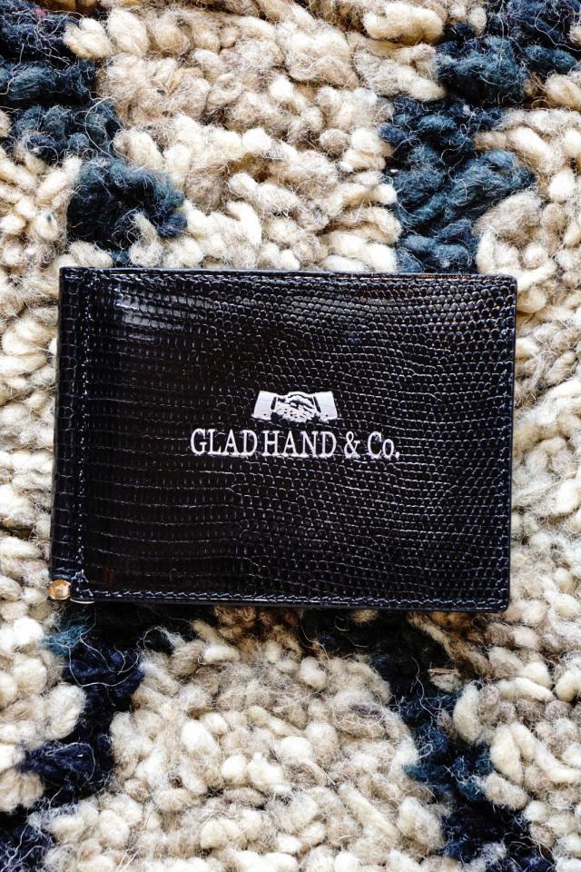 """GLAD HAND & Co. SPEAKEASY MONEY CLIP WALLET """"LIZARD"""" BLACK"""