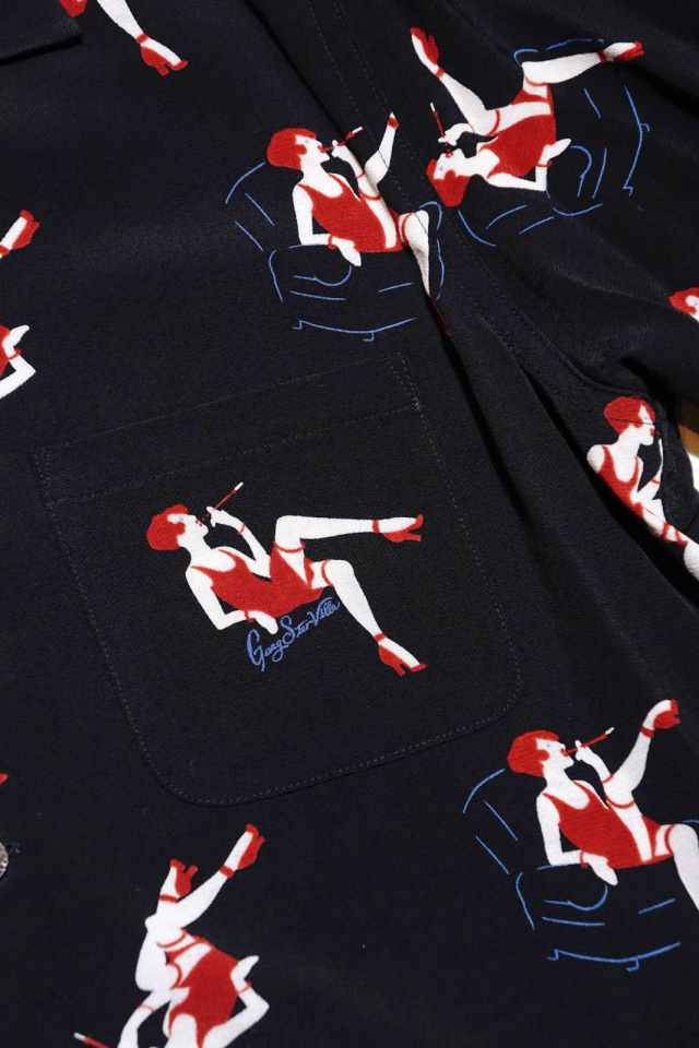 GANGSTERVILLE THE STRIPSTER - S/S SHIRTS BLACK