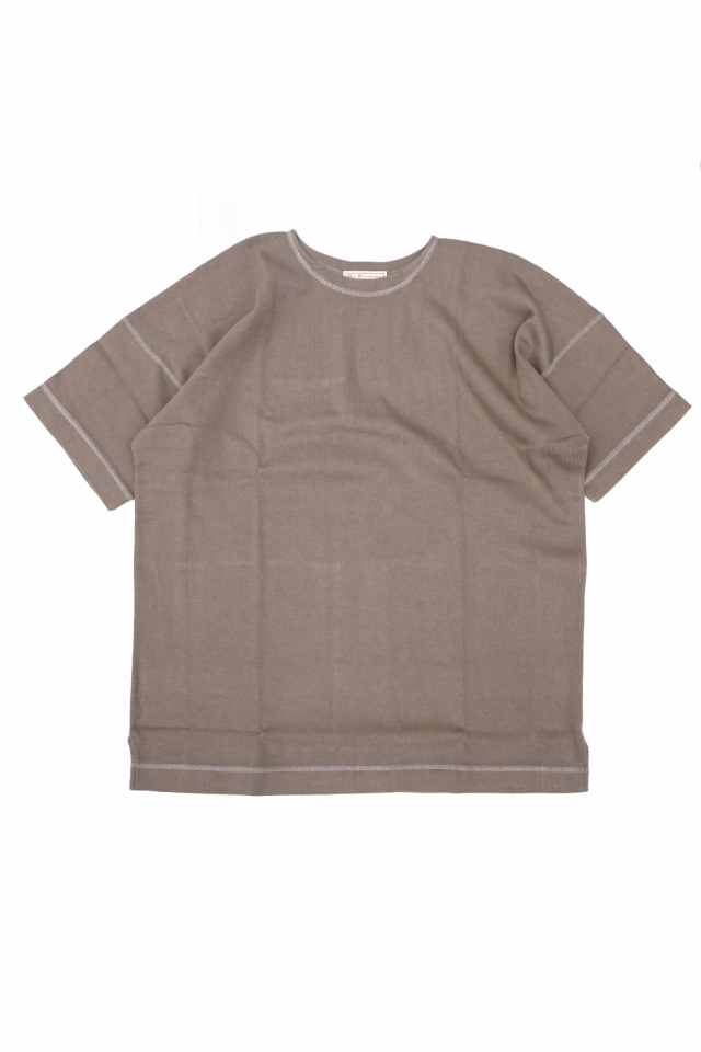 "Olde Homesteader ""Crew Neck Short Sleeve"" - Heavy Weight Rib - RUSTIC GREY"