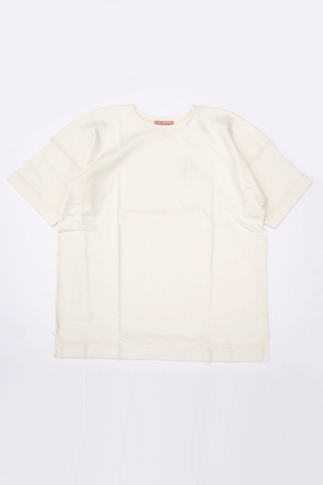 "Olde Homesteader ""Crew Neck Short Sleeve"" - Heavy Weight Rib - OFF WHITE"