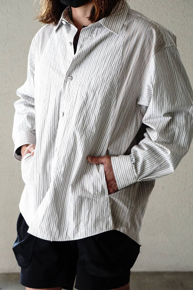 """COMFY OUTDOOR GARMENT """"CMF FRENCH SHIRTS"""" BROWN"""