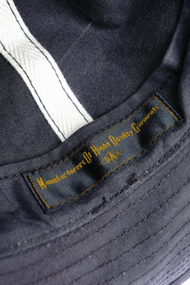 "BAA COSTUME MFG. B.S.W. Special Order ""VINTAGE FABRIC ARMY HAT"" BLACK DYE"