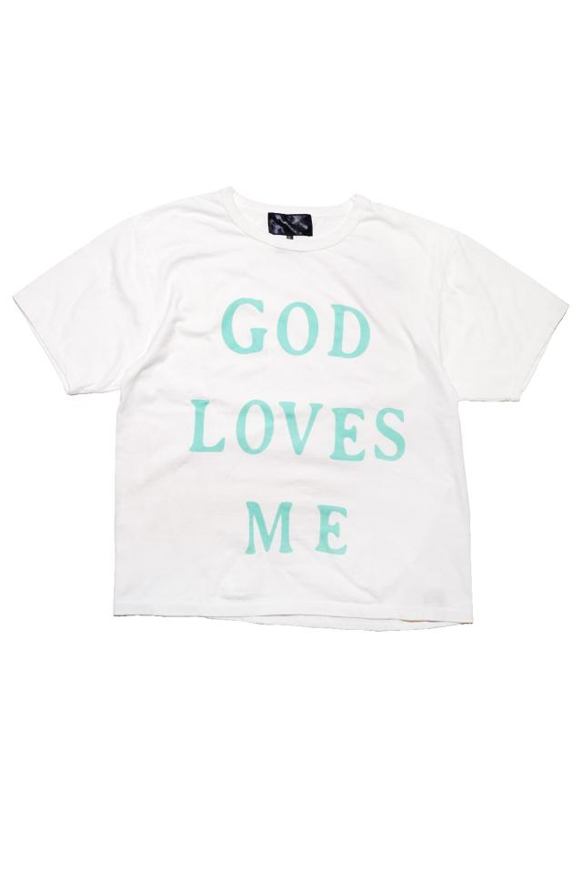 JANIS & Co. #GOD LOVES ME TEE WHITE